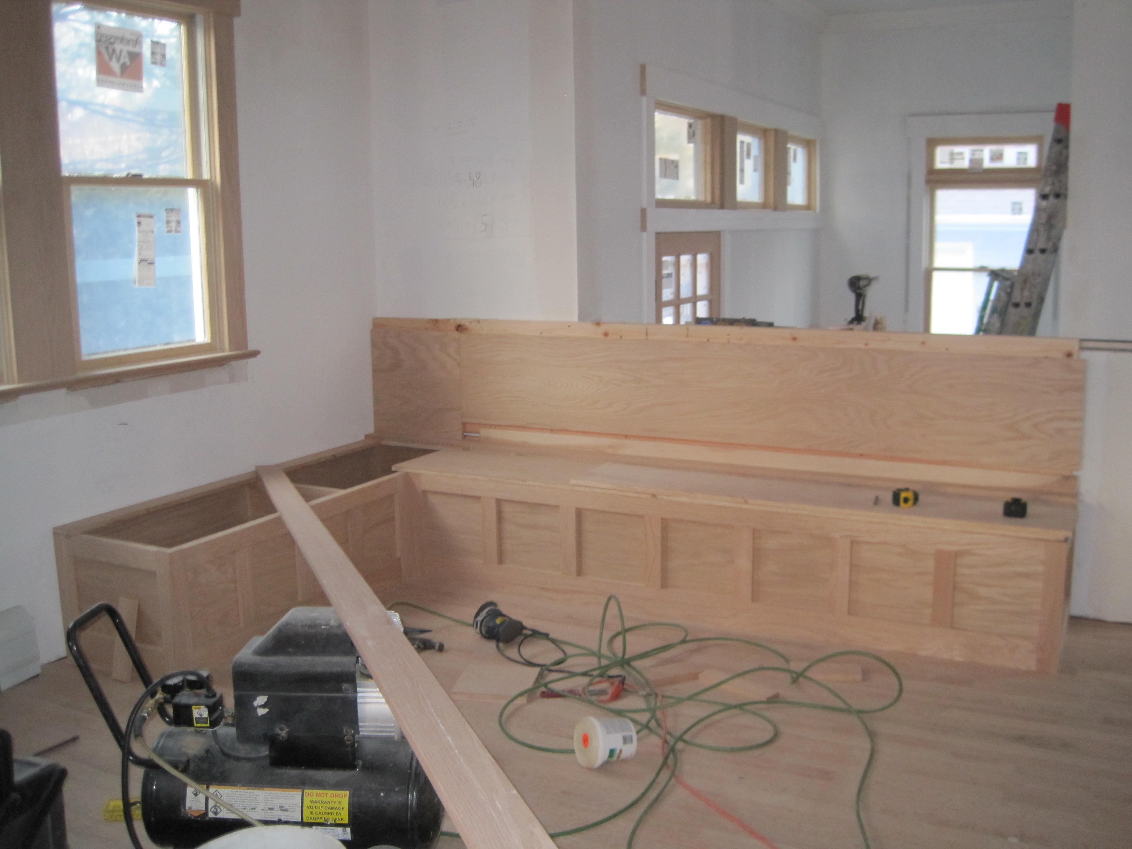 kitchen nook woodworking plans 2