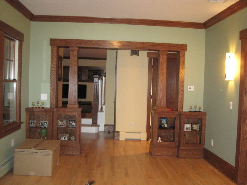 From fire to fabulous for Living room columns